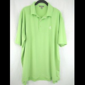 Peter Millar Summer Comfort Lime Golf Polo Shirt
